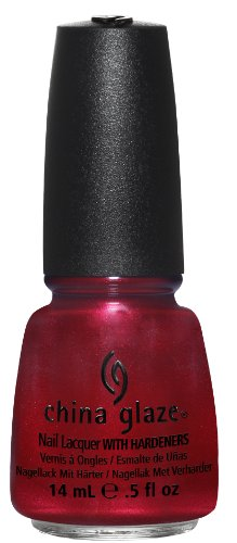 China Glaze Nail Lacquer with Hardner - Iridescent Effect - Cranberry Splash, 1er Pack (1 x 14 ml) (Glaze-farben China)