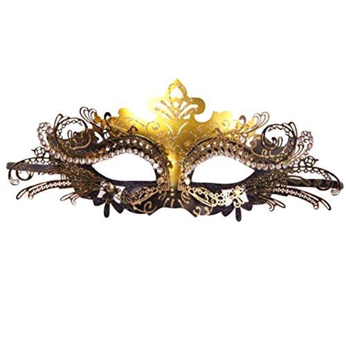Black Temptation Ball-Party-halbe Gesichtsmaske Kostüm Maske Prinzessin Maskerade Maske-A4