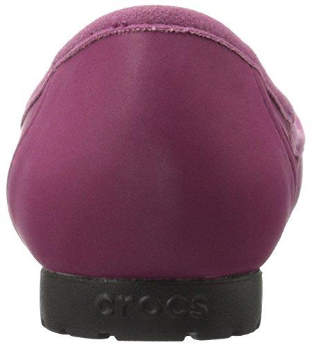 crocs Marin Colorlite Damen Ballerinas Violett (Plum/Black)