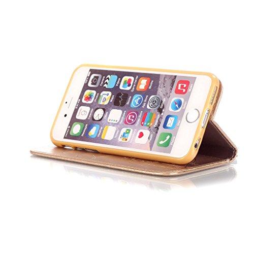 CareyNoce iPhone SE/5S/5 Coque,Arbre Plume Pissenlit Fleur Retro Painted Embossed Pattern Conception Flip Housse Etui Cuir PU Coque pour Apple iPhone SE iPhone 5S iPhone 5 (4.0 pouces) -- Gris Plume T21