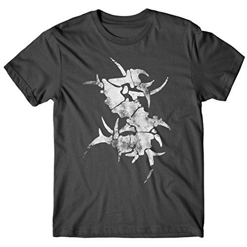 T-shirt Uomo Sepultura - S Logo - Maglietta 100% cotone LaMAGLIERIA,M, Grafite