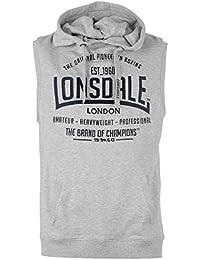 Lonsdale Herren Boxing Aermellos Hoody Weste Hoodie Kapuzenpullover Sweatshirt