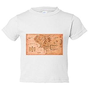Camiseta niño El Señor de los Anillos mapa Tierra Media