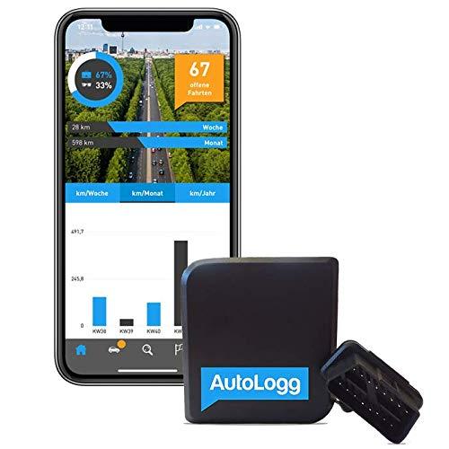fahrtenbuch obd2 AutoLogg - Elektronisches Fahrtenbuch - Finanzamtkonform; Selbst ansteckbar - GPS gestützte OBD2-Lösung; Alles Inklusive: Box, App & Datentransfer in EU für 1 Jahr; Geeignet für Elektrofahrzeuge