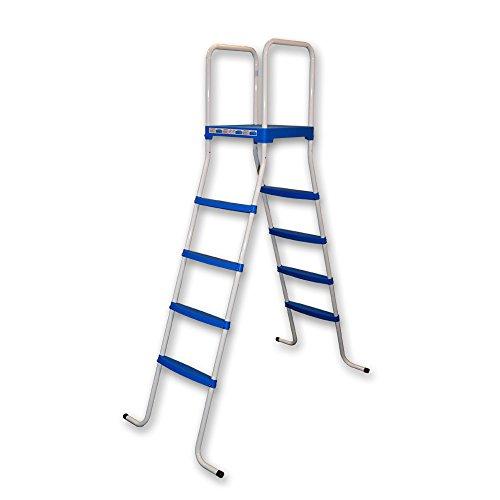 TOI PISCINAS Piscine toi 4876 – Escalier DE 8 Marches pour piscines Amovibles, 130 x 72 x 140 cm, Couleur Blanc