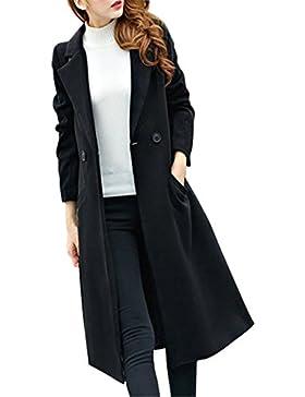 Chaqueta para mujer,Longra ❤️ Prendas de Lana abrigo larga de invierno de Elegante Manga larga Cárdigan para mujer...