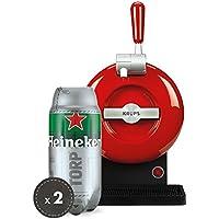 Pack Heineken THE SUB | Tirador de cerveza de barril THE SUB Rouge Edition + 2 TORP Heineken barril de cerveza de 2 litros