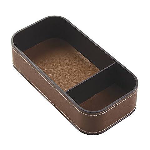 Interdesign 64635EU Laredo Plateau de Rangement pour Bijoux à Mode Plastique Marron 10,16 x 20,32 x 5,08 cm