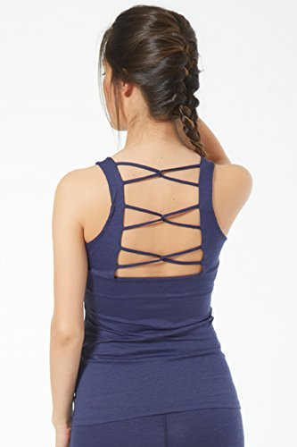 Naffta Fitness Camiseta Tirantes, Mujer, Azul Marino, XL