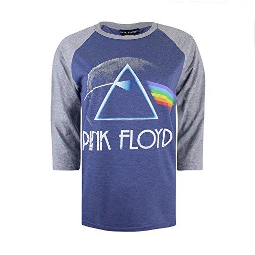 Générique Logo, T-Shirt Manches Longues Femme Blue (Blue/Grey)