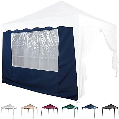 Seitenwand für Pavillon 3x3m, mit Fenster, Farbwahl Weiß Champagner Blau Grün Burgund Rot Anthrazit Schwarz, wasserabweisend, Seitenteil, Gartenzelt, Festzelt,