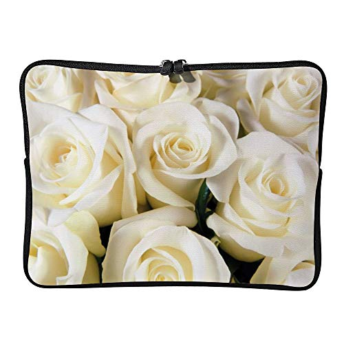 DKISEE White Rose Laptop Sleeve Case Bag Cover Compatible 13 inches Notebook MacBook Air MacBook Pro - Cover Hp-laptop-disney