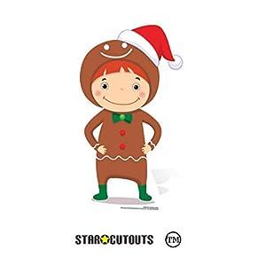 Star Cutouts Ltd SC986 - Figura decorativa de jengibre para niños, 83 cm de altura, multicolor