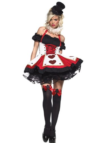 Playing Card Queen Costume (Halloween-Kostüm sexy Gothic Spielkarte XL (UK)