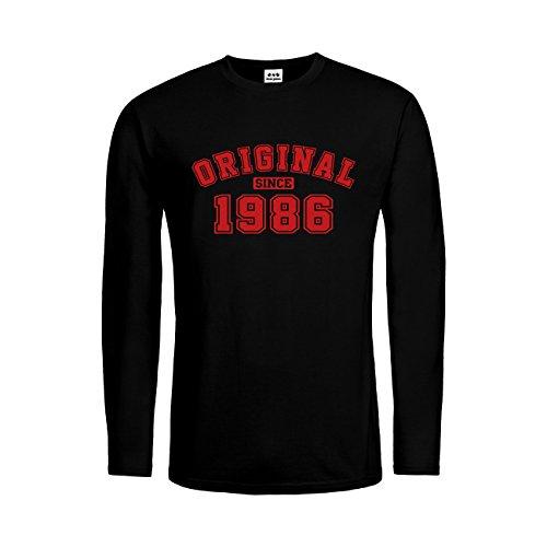dress-puntos Herren Langarm T-Shirt Original Since 1986 20drpt15-mtls01283-18 -