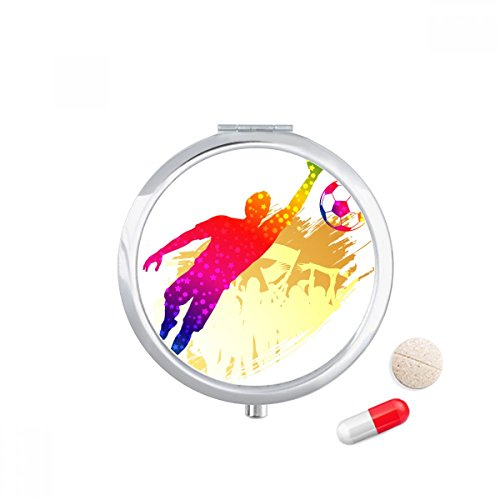 DIYthinker Reise-Taschen-Pillen-Kasten-Medizindrogenspeicher-Kasten-Zufuhr-Spiegel-Geschenk -