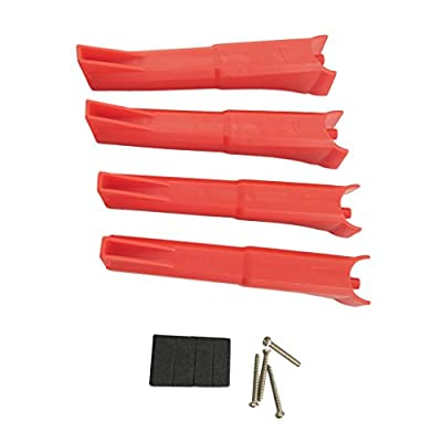 MagiDeal 4 Pieces Plastic Landing Gear Landing Skid for Hubsan H501S H501C X4 RC Drone Spare Parts Red