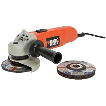 BLACK+DECKER CD115A5 240 V Small Angle Grinder with 5 Discs and Guard, 710 W, 115 mm