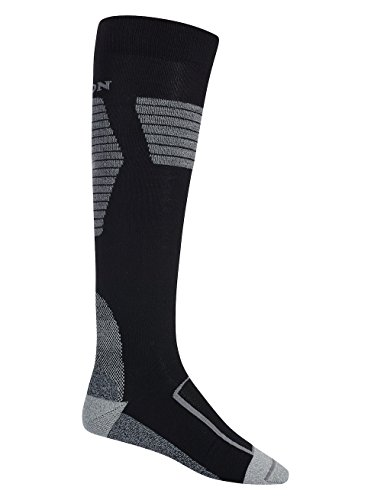 Burton Herren Ultralight Wool Snowboard Socken, True Black, M (Knöchel-socken Burton)