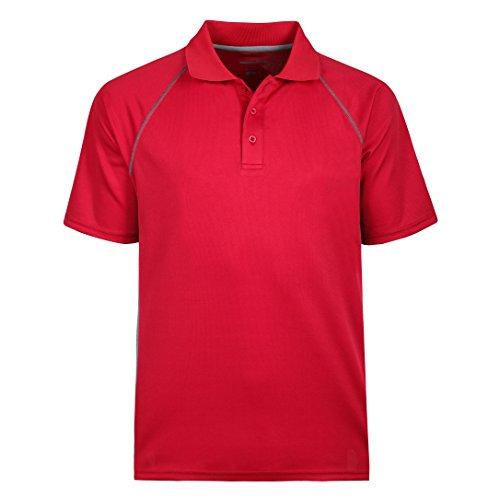 Moheen Herren Short Sleeves Collar Poloshirt Gr:-4XL Farbe:-Rot - Performance-polyester Pique Polo