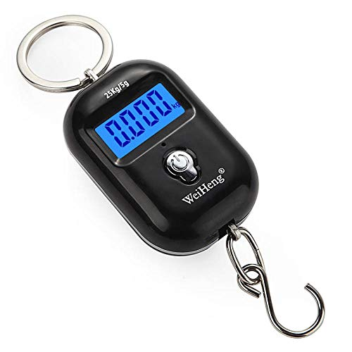 ini-Hand Digitale Hängewaage für Koffer Reisetasche Elektronischer Gewichtung Gepäck-Skala Fisch Haken Gleichgewicht, A21L ()
