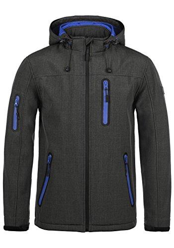 Indicode Ottawa Herren Softshell Jacke Funktionsjacke Übergangsjacke Mit Kapuze Und Fleece-Futter, Größe:M, Farbe:Charcoal Mix (915)