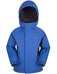 Mountain Warehouse Raptor Kids Snow Jacket - Snowproof Winter Coat, Fleece Lined Childrens Coat, Integrated Snowskirt - Perfect For Camping in Cold Weather Cobalt 9-10 years