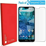 CELLUTION Tempered Glass with 2.5D Edges and 9H Hardness Full Glue Screen Protection for Nokia 6.1 Plus - Transparent (Pack of 2)