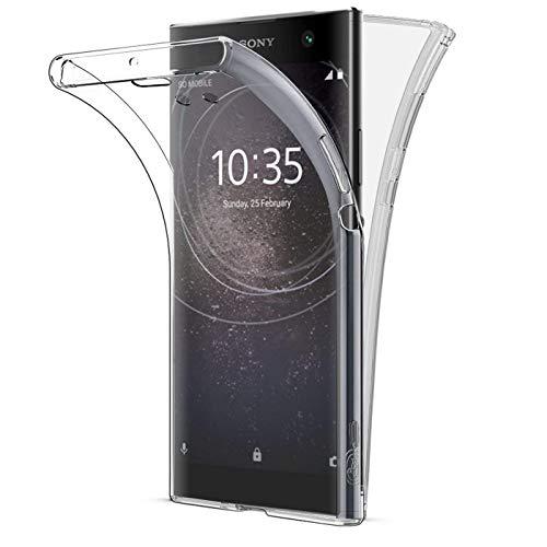 Buyus Coque Gel Sony Xperia XA2 Ultra (Non Compatible XA2) Coque 360 Degres Protection Integral Anti Choc, Etui Ultra Mince Transparent Invisible pour Sony Xperia XA2 Ultra
