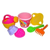 Polesie 597 180 Decorated Sieve, Shovel, Rake No.2 2 Forms, Watering Can No.4-Sets: Flower Bucket, Small, Multi Colour