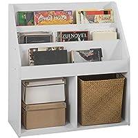 SoBuy Librería Infantil para niños con 3 estanterías, Estantería estándar Infantil,Blanco,H80cm,KMB01-W,ES