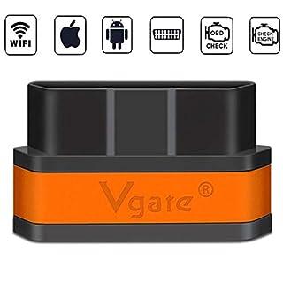 Vgate iCar 2 WiFi OBD2 Scanner Tools Motorlicht prüfen Kann 12V (2003-) Diesel-Autodiagnose-Tool für iOS iPhone iPad, Android Auto Sleep unterstützen