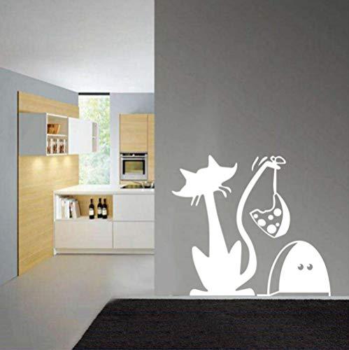 Lustige katz und mausefalle vinyl wandaufkleber tapete für kinder kühlschrank wandbild wandaufkleber künstler wohnsitz dekoration 50X53 CM