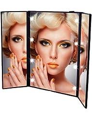 Haut Pflege Werkzeuge Desktop 36led Gesichts Make-up Spiegel Kompakte Größe 180 Grad Rotation Tisch Kosmetik Make-up Spiegel Mit Vergrößerung Spiegel