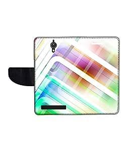 KolorEdge Printed Flip Cover For Asus Zenfone C -Multicolor (47KeMLogo11374ZenC)