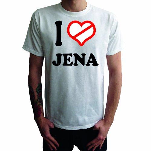 I don't love Jena Herren T-Shirt Weiß