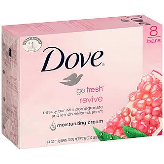 Dove Go Fresh Revive With Pomegranate & Lemon Verbena Scent Soap (Set Of 3) 135 G*3  available at amazon for Rs.768