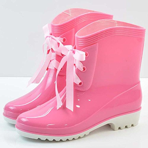 mode des femmes dérapage bottes de pluie Pink