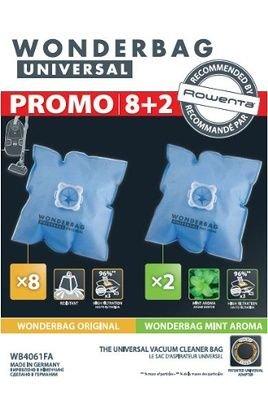 Wonderbag Universal Bolsa para aspirador Rowenta, 10 unidades