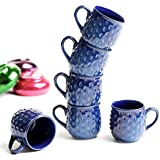 Cultural Concepts Electric Blue Tea Cups Coffee Mugs - Set Of 6