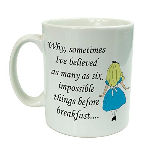 """Alice nel paese delle meraviglie, 6 Things prima colazione Tazza in ceramica """", in confezione regalo"""