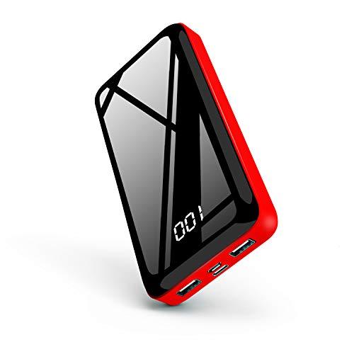 Nuxgal Handy Powerbank 26800mAh Externer Akku, Portable Phone Charger LED Anzeige Design Tragbares Ladegerät Dual USB 2.1A Ports und Type c Power Pack für MacBook ios Samsung und weitere Smartphones