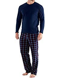 Harvey James - Conjunto de pijama de manga larga - Hombre - Pantalón a cuadros
