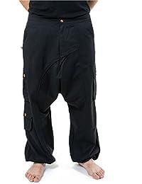 - Pantalon sarouel baggy droit homme femme noir uni Sarul -