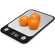 CookJoy Bascula Cocina Digital Peso Cocina Digital Báscula Digital Acero Inoxidable con Gran Pantalla LCD Balanza