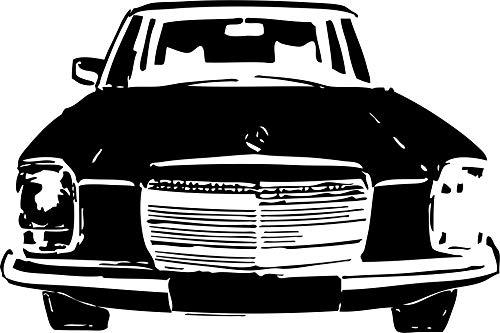 Wandtattoo: Mercedes-Benz/8, Front, Kühlergrill, Strich-Acht, W 114 W 115, Mercedes-Benz, Daimler, Auto, Tuning, Accessoire // Farb- und Größenwahl (Rot - 680 mm x 450 mm)