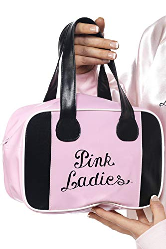Pink Lady Bowling-Tasche Rosa mit Logo, One - Sandy Fancy Dress Kostüm