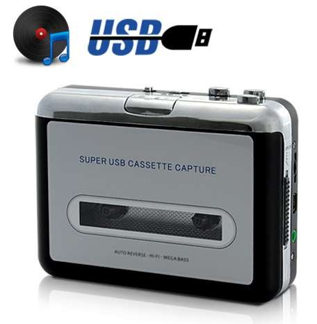 Convertidor USB Cinta Audio Cassette MP3 CD Reproductor
