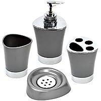 Set 4 accessoires de bain - GRIS