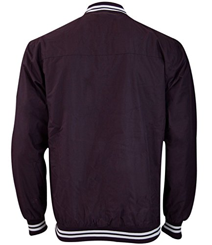 New Mens Soul Star Lined Summer Shower Proof Collar Jacket Zip up Rain Coat Plum
